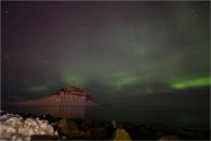 aurora kirkurfell iceland