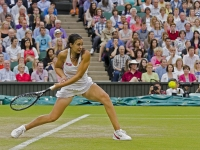 Marion Bartoli winding up for her shot