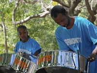 Steel band players